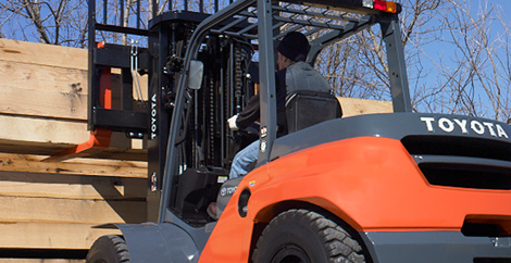toyota forklift in action