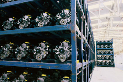 Motors on shelves